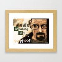 W. H. White Breaking Bad Framed Art Print