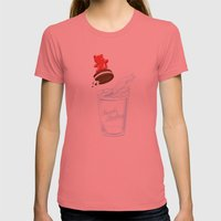 Sweets Surfing Womens Fitted Tee Pomegranate SMALL