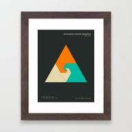 Framed Art Print featuring ARCHIMEDES INFINITE SEQU… by Jazzberry Blue