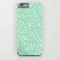 iPhone & iPod Case featuring Geo Lines Mint by Project M