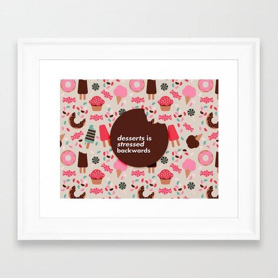 desserts! Framed Art Print