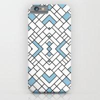 PS Grid 45 Sky Blue iPhone 6 Slim Case