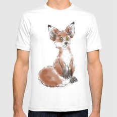 Foxy SMALL Mens Fitted Tee White
