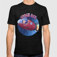 Space Ace Mens Fitted Tee Tri-Black SMALL