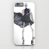 skeleton in leather & fur iPhone 6 Slim Case