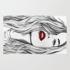 Girl with the Red Lips Rug