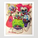 Killer Klown Gang Art Print