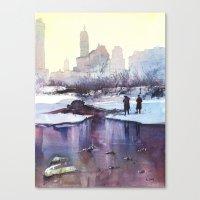 New York - Promenade hivernale Canvas Print
