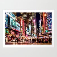 City Lights, The BIG App… Art Print