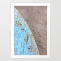 Turquoise Beach Wood I Art Print
