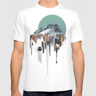 Oozing Mountain Mens Fitted Tee White SMALL