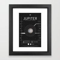 OMG SPACE: Jupiter 1970 … Framed Art Print