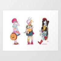 Personal Backpacks Art Print