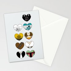 Character Hearts Stationery Cards
