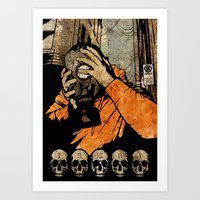 Leroy And The Five Dancing Skulls Of Doom Art Print