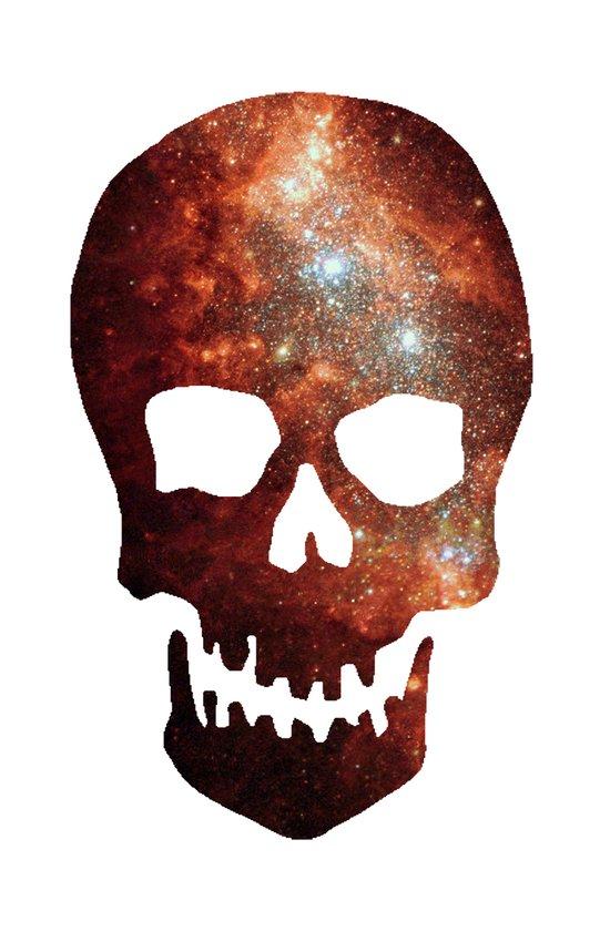 Gallexy Skull Art Print