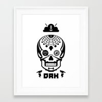 Mexican Skull Framed Art Print