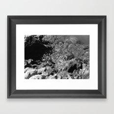 Breaking Shore Framed Art Print