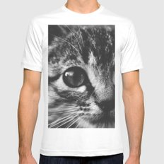 Big eyes SMALL White Mens Fitted Tee