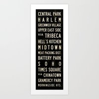 NYC Transit Sign Art Print