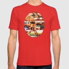 Glitch Pin-Up Redux: Pey… Mens Fitted Tee Red SMALL