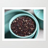 Quinoa + Blue Art Print