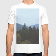 Mountain View White Mens Fitted Tee SMALL