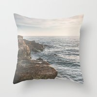 Ocean (Rocks Within The … Throw Pillow
