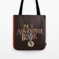 Tote Bag featuring My Adventure Book.. Up, … by Studiomarshallarts