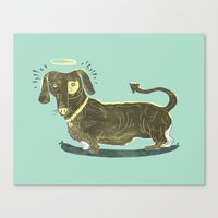 Bad Dog! (The Little Dac… Canvas Print