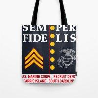 US Marine Corps, USA. Tote Bag