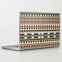 minimal Laptop & iPad Skins featuring DG Aztec No.1 by Dawn Gardner
