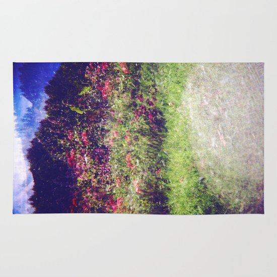 Flowers Plastic Camera Double Exposure Area & Throw Rug