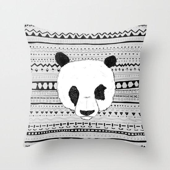 PANDA PATT! Throw Pillow