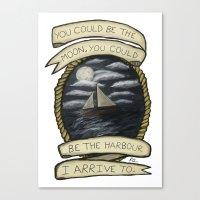 Nautical Drawing Canvas Print