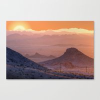 Mead Sunrise Canvas Print