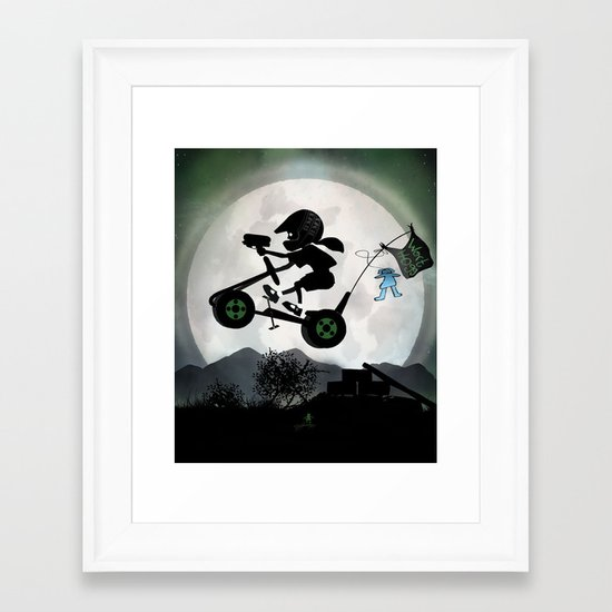 Halo Kid Framed Art Print