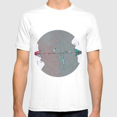 Thin line Mens Fitted Tee SMALL White