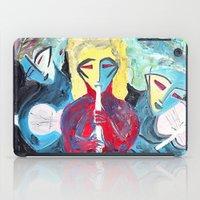 Three Blue Jazz Sisters iPad Case