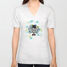 Geo baboon master of the hipster Unisex V-Neck
