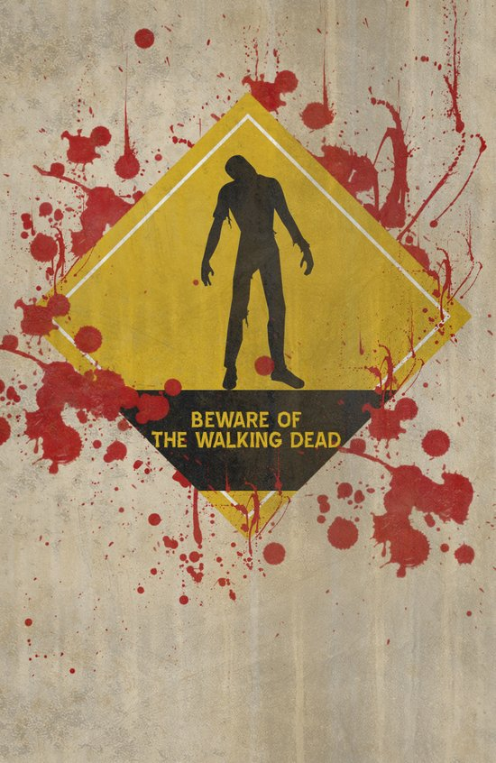 Beware of The Walking Dead Canvas Print