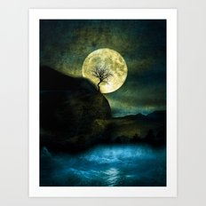 The Moon And The Tree. Art Print