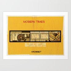 Modern times_ directed by Charlie Chaplin Art Print