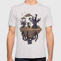 Dark Wood Mens Fitted Tee Silver SMALL