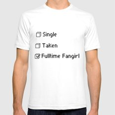 fulltime fangirl SMALL White Mens Fitted Tee