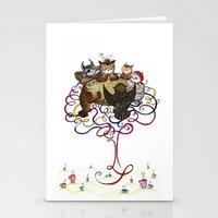 Art School Owl Assembly Stationery Cards