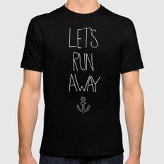Let's Run Away: Ocean Mens Fitted Tee Black SMALL