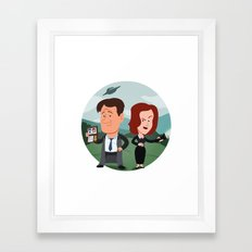 Mulder and Scully Framed Art Print