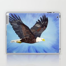 Bald eagle in flight Laptop & iPad Skin