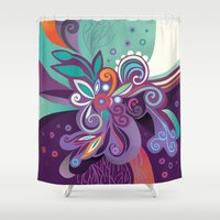 Floral curves of Joy Shower Curtain